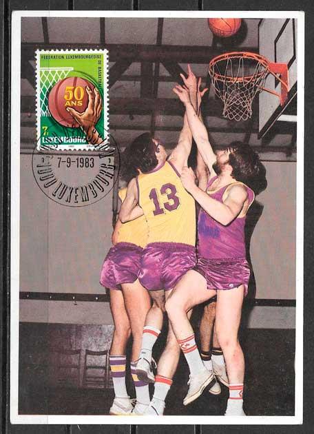 filatelia deporte Luxemburgo 1983