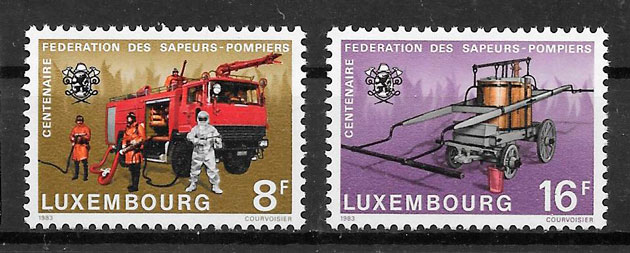 filatelia transporte Luxemburgo 1983