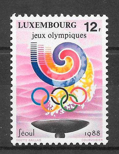 sellos deporte Luxemburgo 1988