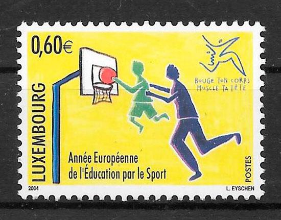 sellos deporte Luxemburgo 2004
