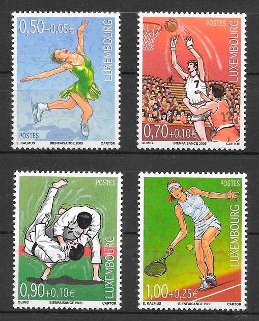 sellos deporte Luxemburgo 2005