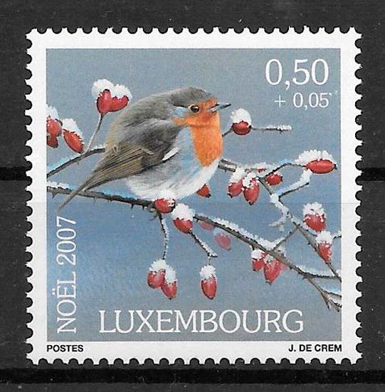 colección sellos navidad Luxemburgo 2007