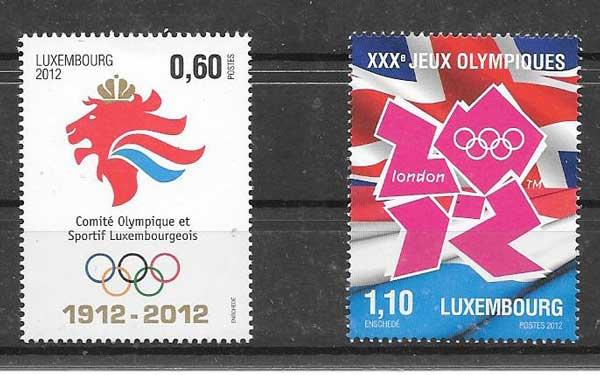 sellos olimpiadas Luxemburgo 2012