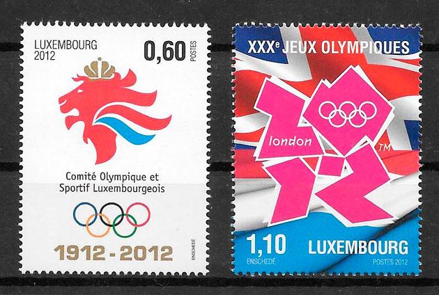 sellos deporte Luxemburgo 2012