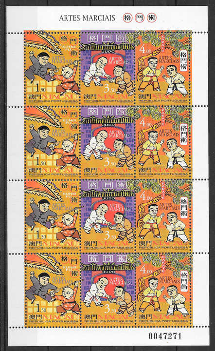 colección sellos deporte Macao 1997