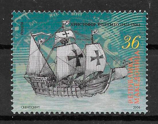 filatelia colección transporte Macedonia 2006