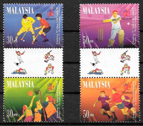 colección sellos Malasia deporte 1997