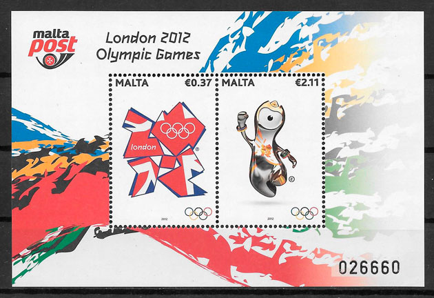 sellos deporte Malta 2012