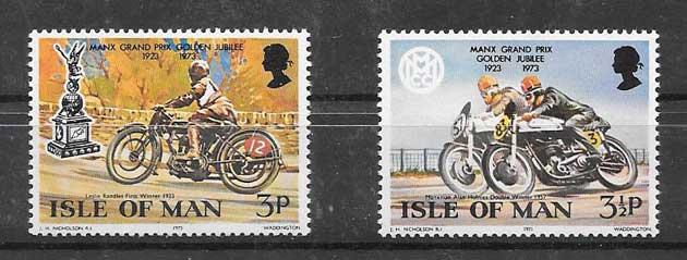 Estampillas Deporte de Isla de Man 1973