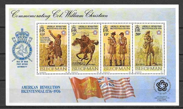 Colección sellos Coronel Willian Christian 1976