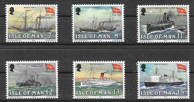 Filatelia sellos transporte marítimo 1980