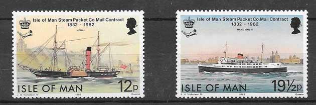 Filatelia sellos transporte postal marítimo