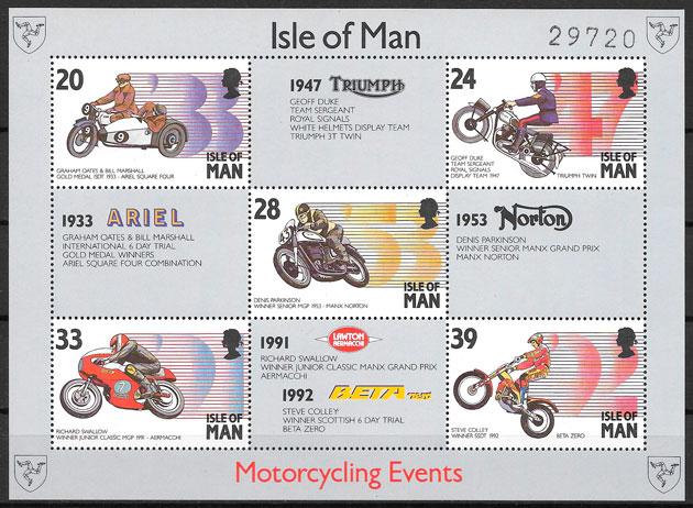 sellos deporte Isla de Man 1993