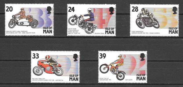 Sellos Eventos motociclistas Isla de Man 1993