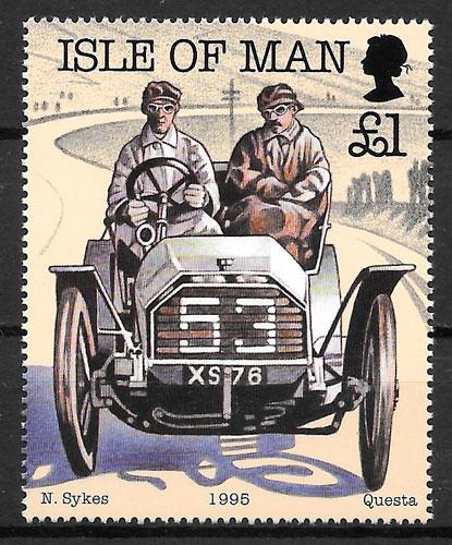 filatelia deporte Isla de Man 1995