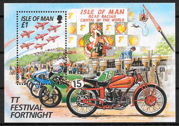 colección sellos deporte Isla de Man 1996