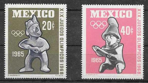 sellos olimpiadas México 1965