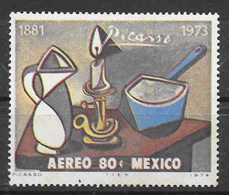sello pintura Mejico 1974