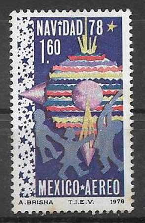 sellos colección navidad México 1978