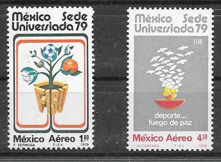 sellos colección deporte México 1979