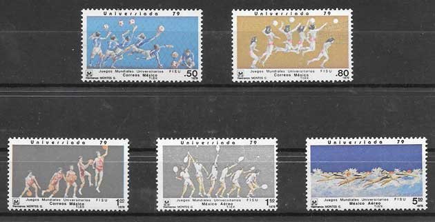 sellos deporte México 1979