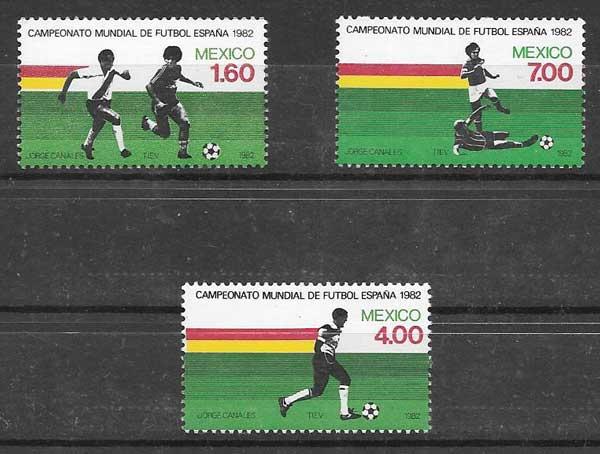 sellos colección deporte México 1982