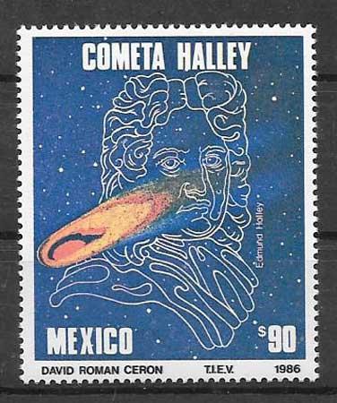 sellos colección personalidad México 1986