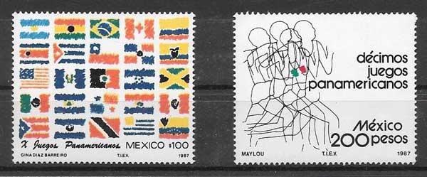 colección sellos deporte 1987