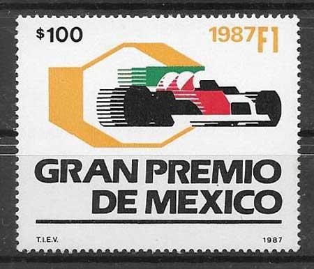 sellos deporte México 1987