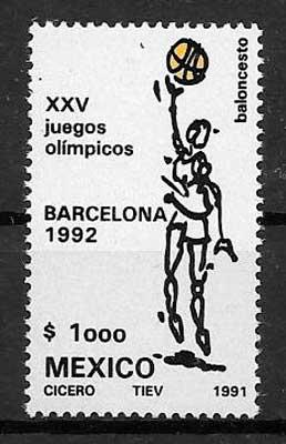 sellos deporte México 1991