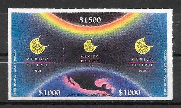 sello espacio México 1991
