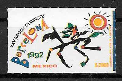 filatelia deporte México 1992