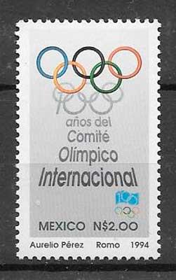 sellos deporte México 1994
