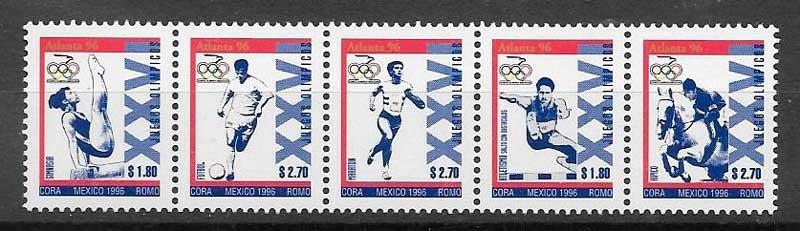 filatelia deporte México 1996