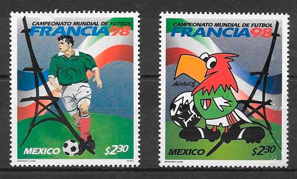 filatelia colección deporte México 1998