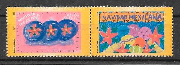 sellos navidad de México 2006
