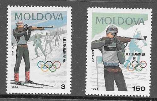 sellos deporte 1994 Moldavia