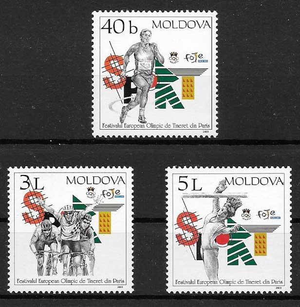sellos deporte Moldavia 2003