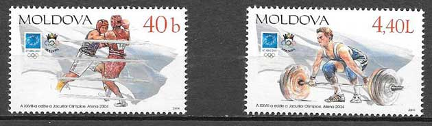Filatelia Olímpicos Moldavia 2004
