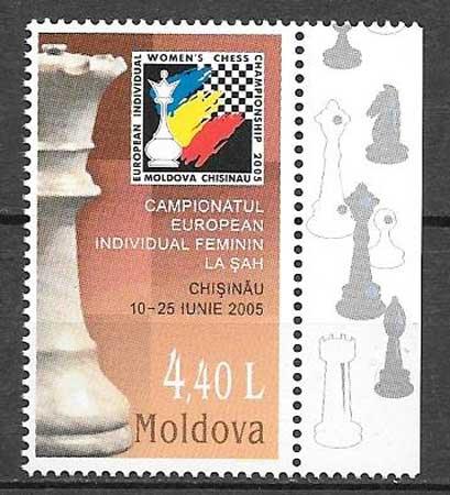 Filatelia deporte Moldavia 2005