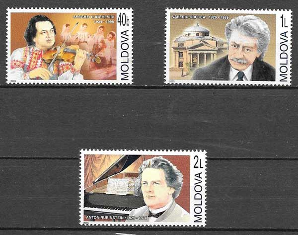 sellos personalidades Moldavia 2005