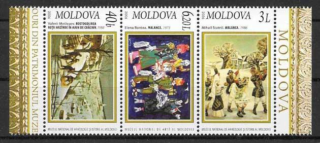 Sellos navidad Moldavia 2006