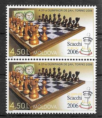 Sellos filatelia deporte Moldavia 2006
