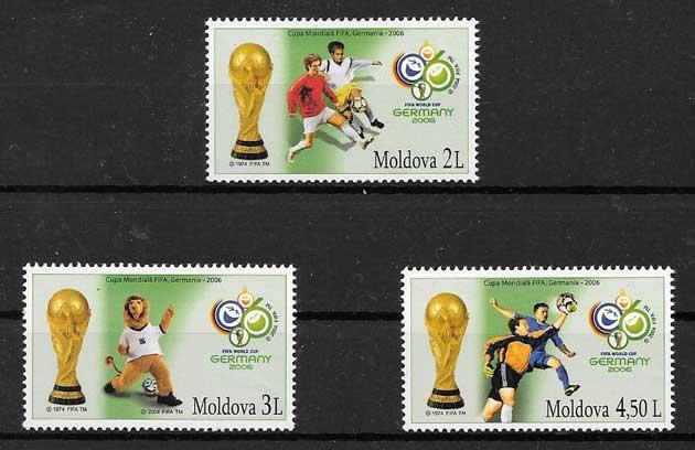 Colección sellos deporte Moldavia 2006