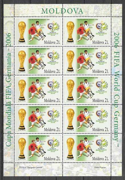 Filatelia fútbol Moldavia 2006