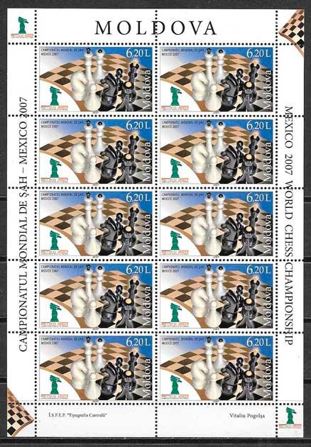 sellos deporte Moldavia 2007