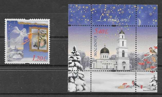 sellos navidad Moldavia 2010