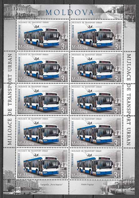 filatelia transporte Moldavia 2013