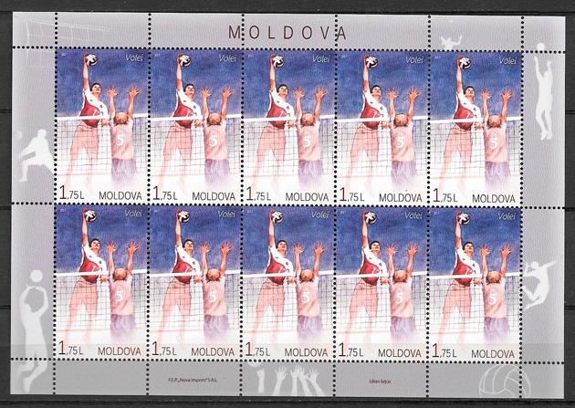 colección sellos deporte Moldavia 2017