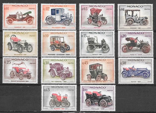filatelia colección transporte Mónaco 1961